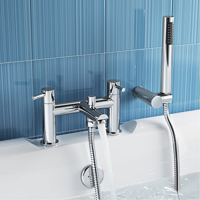iBathUK Luxury Bath Filler Mixer Tap with Modern Bathroom Shower ...