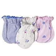 Carter's Baby 3-pack No Scratch Mittens (0-3 Months) (Pink Hearts)