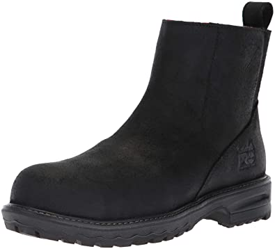 Timberland PRO Women s Hightower Chelsea Composite Toe SD+ Industrial Boot  Black Distressed Leather 5.5 ... 410e628e9