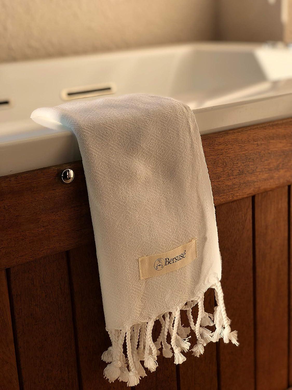 Oeko-Tex 60 x 110 cm Solido Tessuto con Design Diamante Asciugamano Viso-Mani Turco Laodicea Bianco Bersuse 100/% Cotone