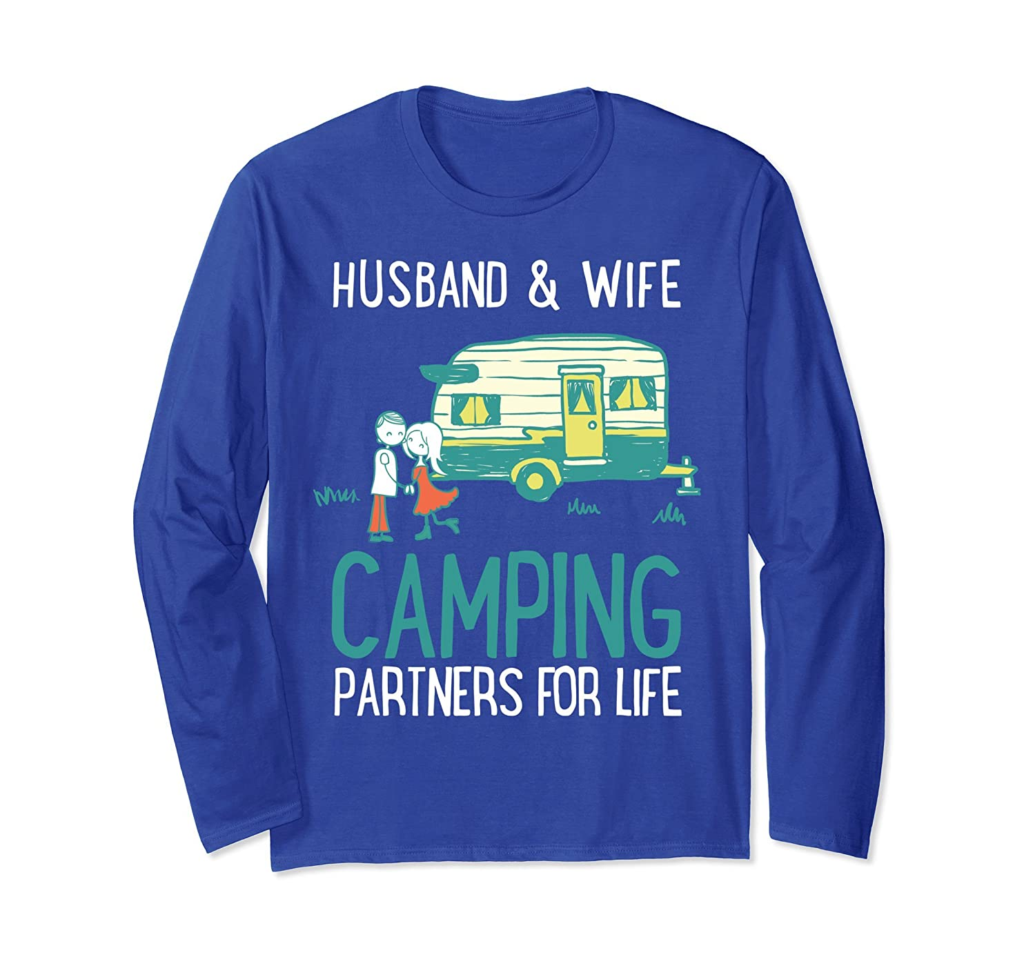Beautiful Wife and Husband Camping Partners For Life T-Shirt-mt