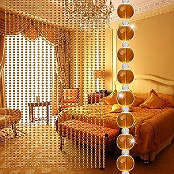 Cortina de perlas, elaco cristal lujo salón dormitorio ventana puerta decoración de boda, E