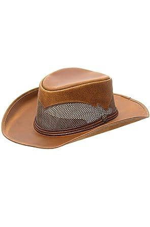 "e0b5a5ba Durango Crushable Leather Breezer Gambler Hat, COPPER, Size MEDIUM  (22.25"" circumference)"