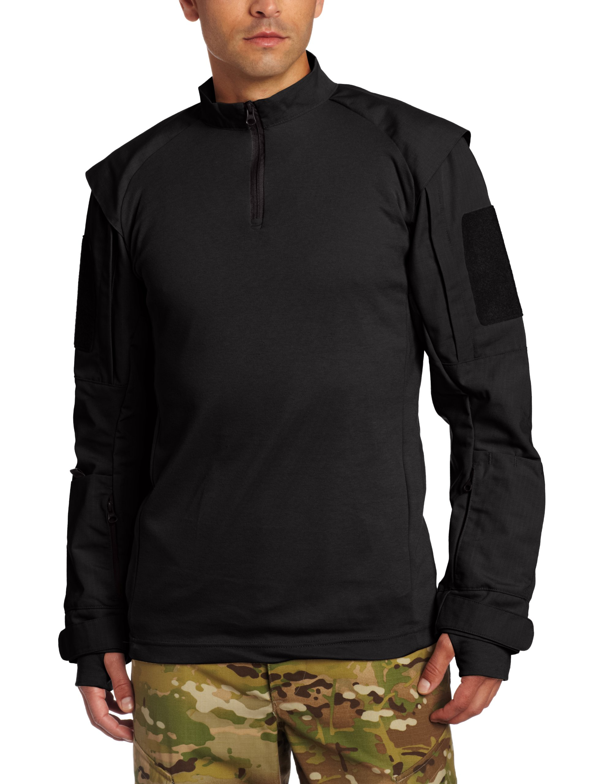 Propper Men's TAC.U Combat Shirt, Black, Small Short