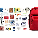Complete Earthquake Bag for 1 person for 3 days - Most popular emergency kit for earthquakes, hurricanes, floods + other disasters (Emergency food, water, shelter, hand-crank phone charger)
