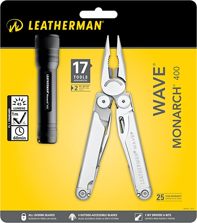 Leatherman LT650 Wave Monarch 400 - Lote con alicates y linterna: Amazon.es: Deportes y aire libre