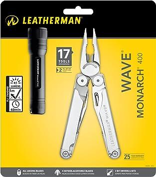 Leatherman LT650 Wave Monarch 400 - Lote con alicates y linterna