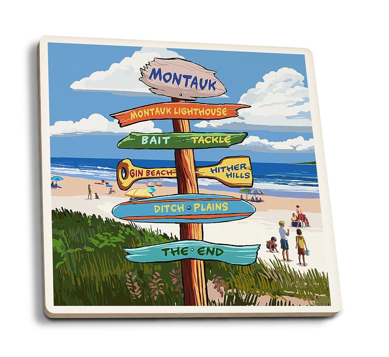 新しい季節 Montauk、ニューヨーク B06XZVBDDB – Destination Signpost Canvas Tote Canvas Bag Coaster LANT-79529-TT B06XZVBDDB 4 Coaster Set 4 Coaster Set, GREEN RIBBON:3382ae73 --- mcrisartesanato.com.br