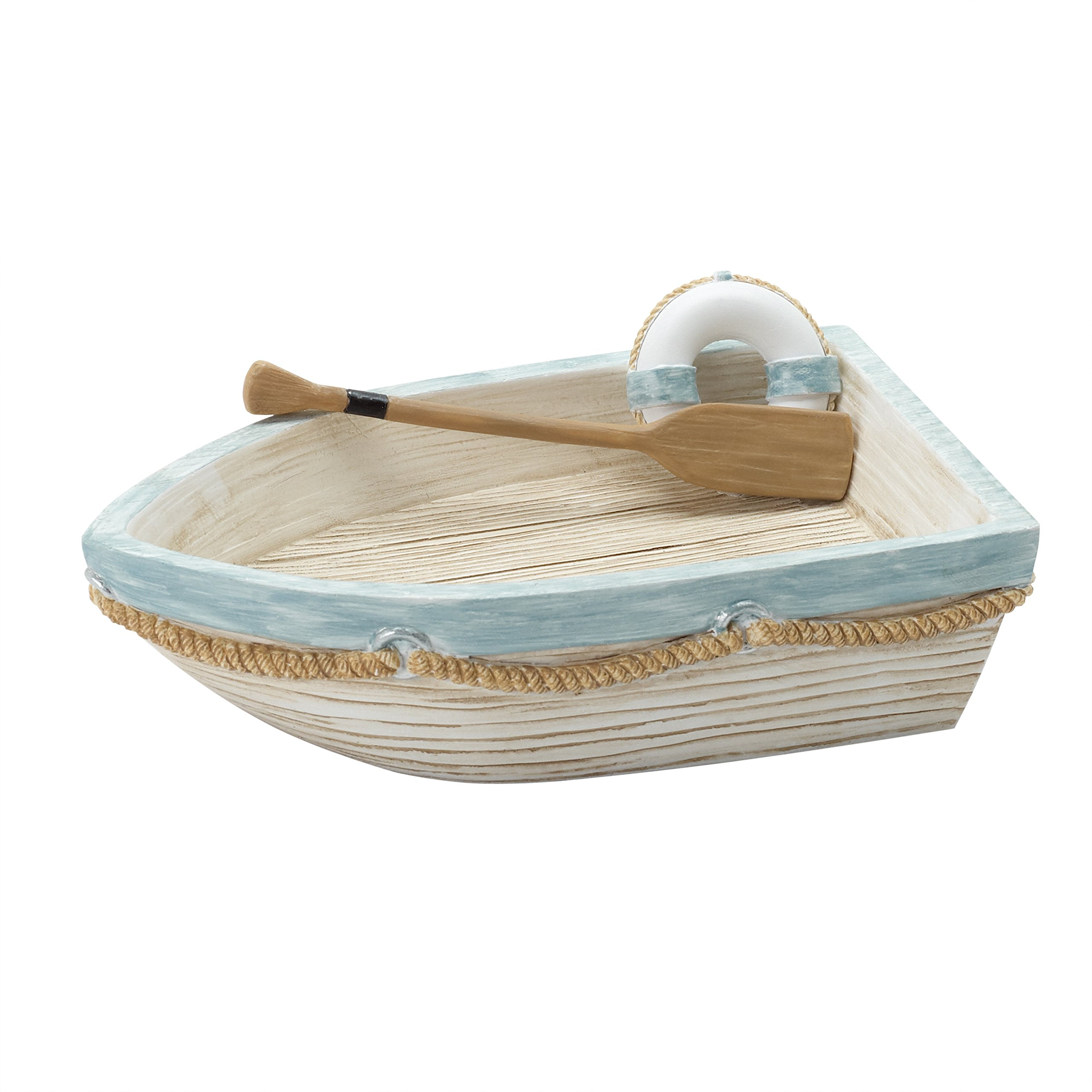 Zenna Home, India Ink Seaside Serenity Soap Dish, Coastal/Beach
