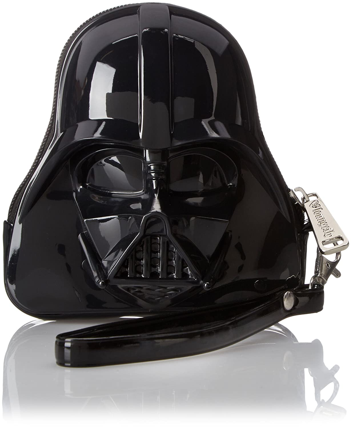 Loungefly Star Wars Darth Vader Patent Mini Dome Top Handle Coin Purse, Black, One Size Geek Gift Women