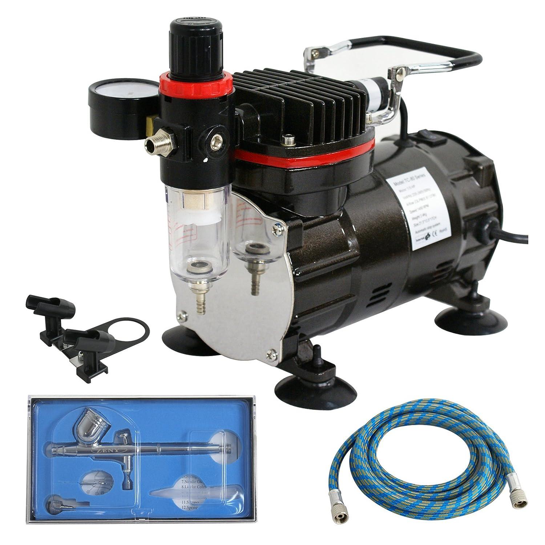 F2C TC-20T 1/5HP Pro Air Compressor Airbrush Kits W/ 6FT Hose and 3L Tank 4336951538
