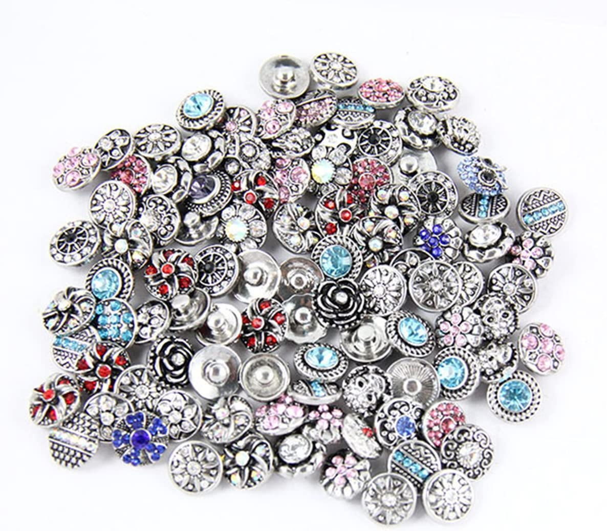 Gabcus Snap Jewelry Snap Button Necklace Fit 12mm 18mm Snap Buttons Metal Color: Fit 12mm Snap Button