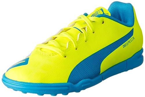Puma Evospeed 5.4 Turf Jr, Unisex Kids' Football Training Shoes, Yellow ( Safety