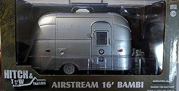 Shasta Airflyte Wohnanhänger 1961 blau//weiß Modellauto 1:24 Greenlight