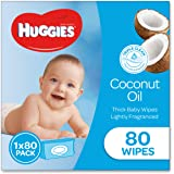 HUGGIES Baby Wipes Soft Pack Coconut, 80 Wipes