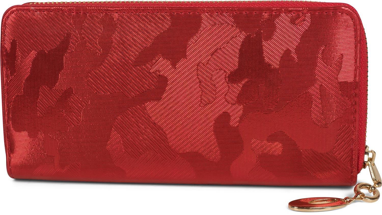 styleBREAKER Porte-monnaie avec motif camouflage structuré et effet métallisé, fermeture à glissière, portefeuille, femmes 02040093, couleur:Argent