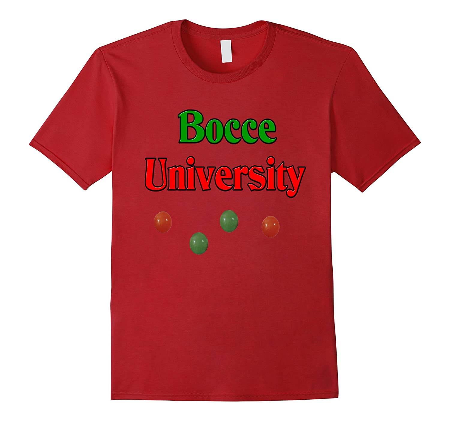Bocce University (Italian sport) t-shirt-TH