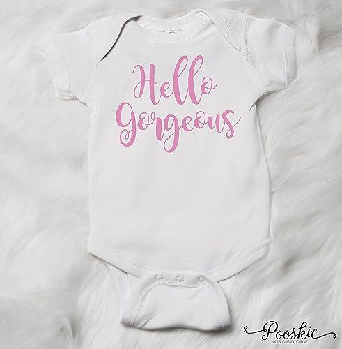 784c507ca Amazon.com  Hello Gorgeous Baby Girl Clothing