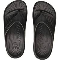 crocs Unisex Baya Black Flip Flops Thong Sandals