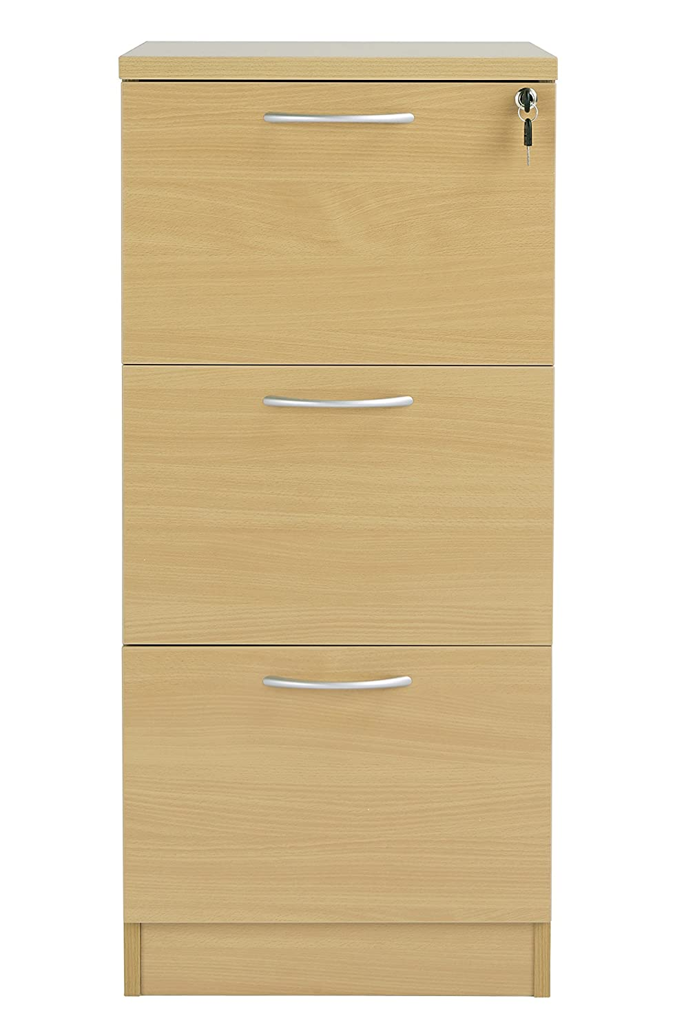 Three Drawer Office Hippo Fraction Plus Filing Cabinet Oak
