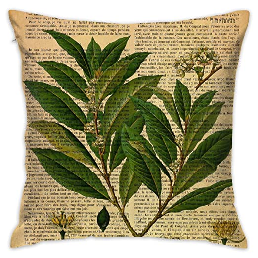 Sotyi-ltd Funda de cojín con impresión botánica, en página ...