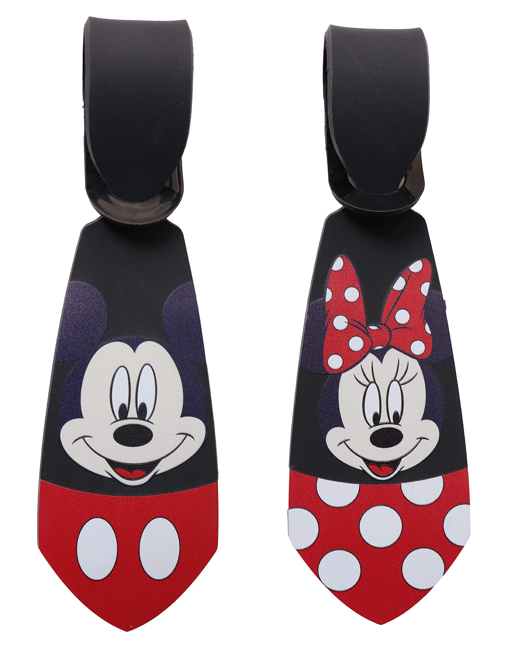 Super Cute Kawaii Cartoon Silicone Travel Luggage ID Tag Tie for Bags (Mickey&Minnie Luggage Tie)