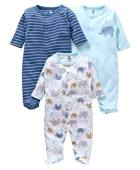 9454917bab9a I Bears Baby Boy s and Girl s Cotton Full Sleeves Footed Rompers ...