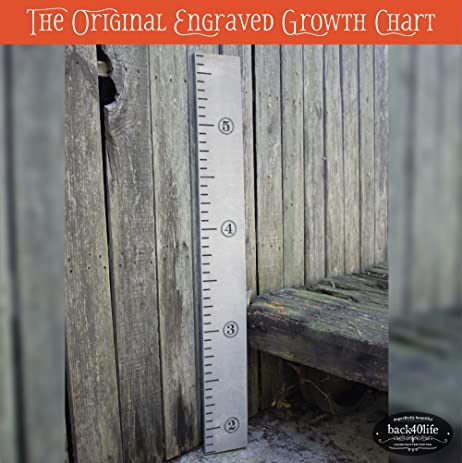Back40Life | 48u0026quot; Premium Engraved Wooden Growth Height Chart Ruler    The Skitch (Classic