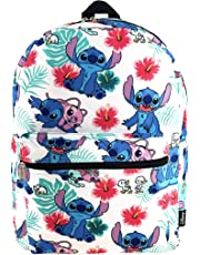 Lilo and Stitch 16 Inch Allover Print Backpack with Laptop Sleeve