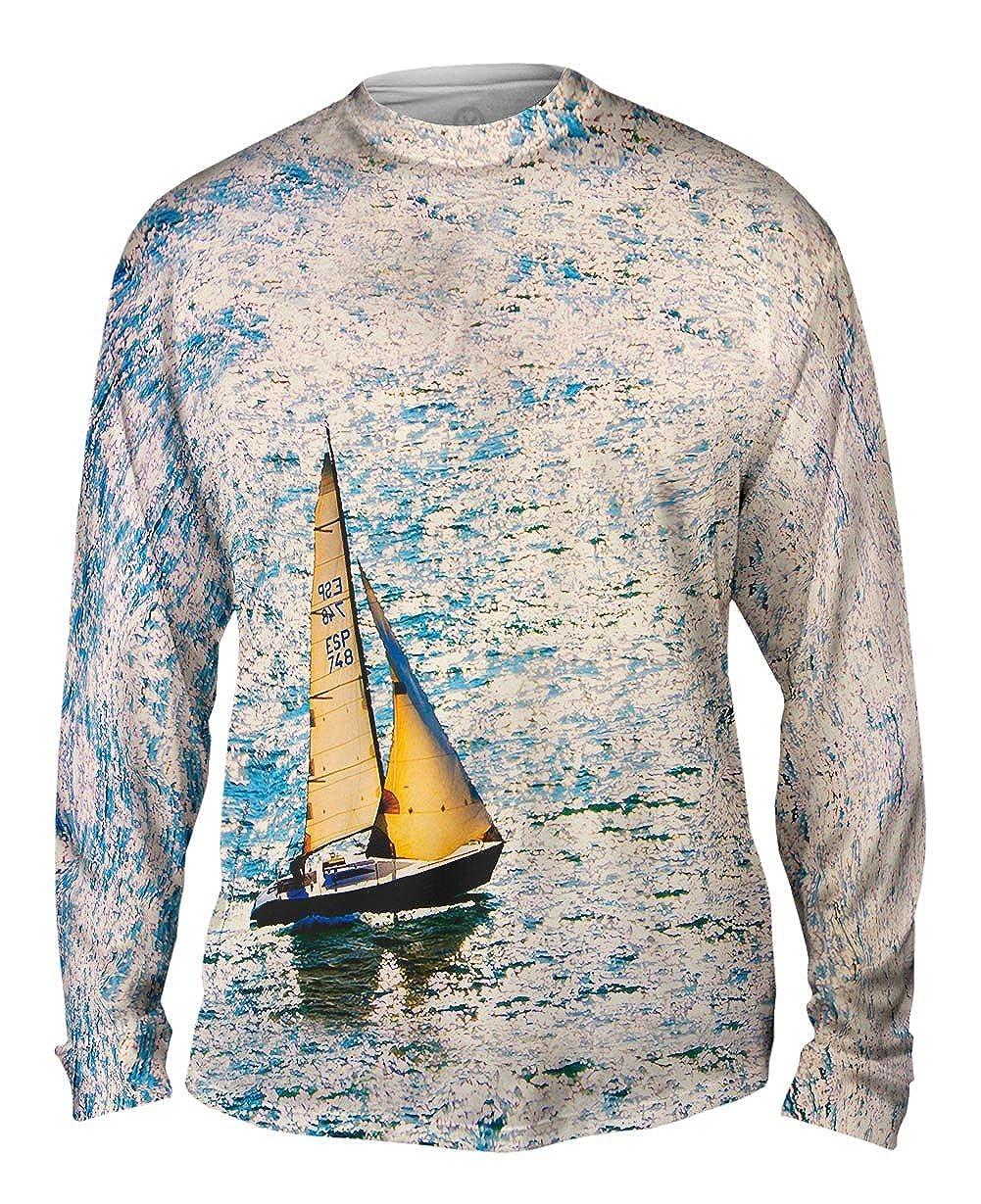 Yizzam Mens Long Sleeve TShirt The Sailboat