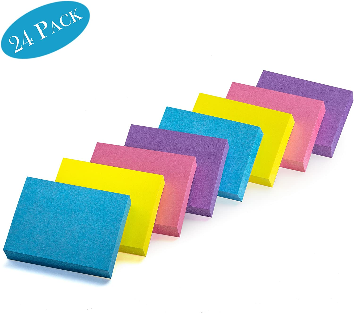 24 Pads Per Pack Extreme 100 Sheets Per Pad Premium Quality School Mini Self-Stick Memo Notes 1 /½ X 2 Inches Self Adhesive for Home Office Sticky Notes