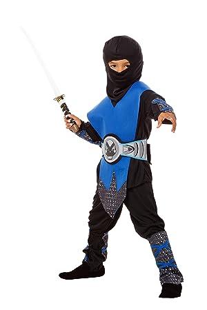 Ninja Disfraz infantil azul – Completo juego de 6 ninja ...