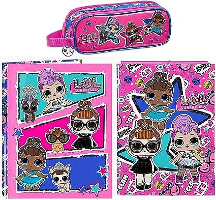 Lol Surprise - Anillas, Clasificador y Caja de Lápices, Rosa/Azul ...