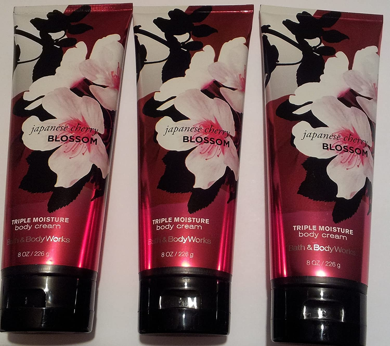 Bath and Body Works Japanese Cherry Blossom Body Cream 3 Pack