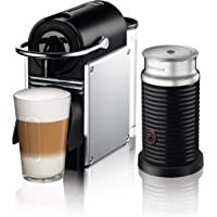 Nespresso by De'Longhi Aluminum Pixie Espresso Machine with Aeroccino