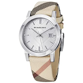 Burberry bu9113 - Montre, Bracelet en Cuir Couleur Marron  Amazon.fr ... b8abced4685