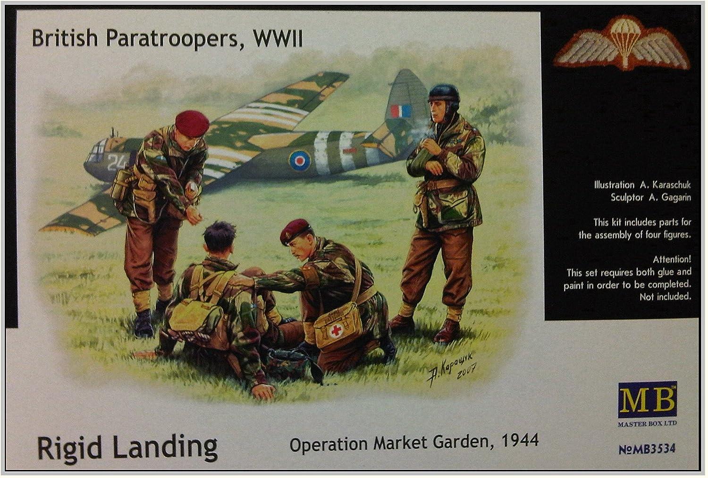 WWII 4 Figures Operation Market Garden 1944 Rigid Landing 1//35 British Paratroopers