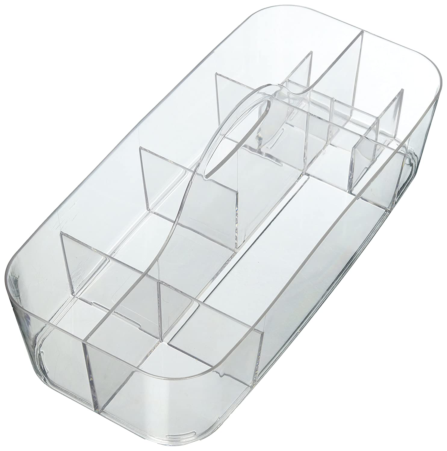 mDesign Bathroom Shower Caddy Tote for Shampoo, Soap, Razors - Large, Clear MetroDecor