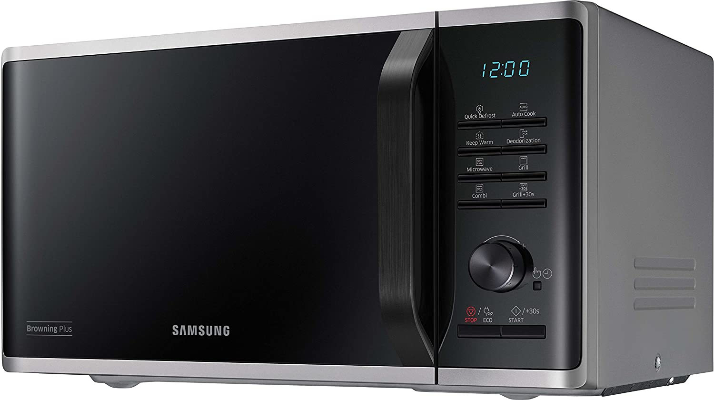 Samsung MG23K3515AS/EG Encimera - Microondas (Encimera, Microondas con grill, 23 L, 800 W, Botones, Giratorio, Plata)