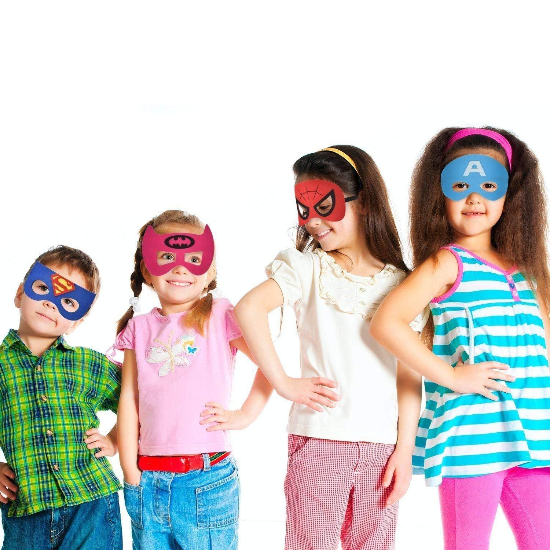 QWER Superheroes Party Masks for Children, 20 Piece