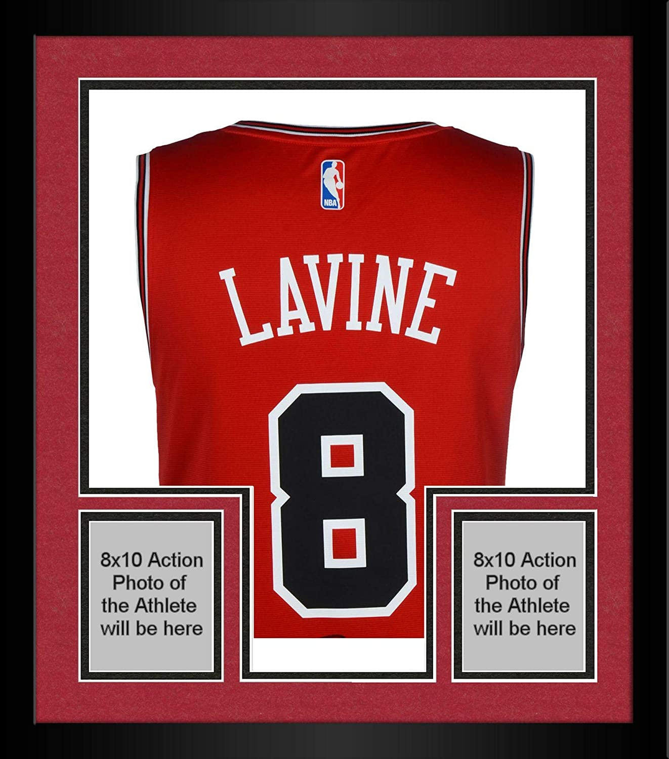 best service 0585c 658b1 Framed Zach LaVine Chicago Bulls Autographed Red Fanatics ...