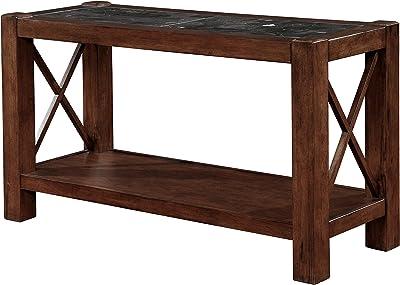Black Finish 2 Tier Quatrefoil Design Occasional Console Sofa Table Bookshelf None NT 20261