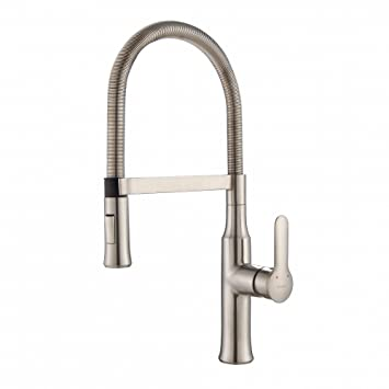 Kraus KPF 1640SS Modern Nola Single Lever Flex Commercial Style Kitchen  Faucet, Stainless Steel
