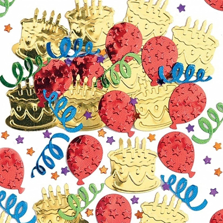 Peachy Happy Birthday Cake Party Embossed Foil Confetti Table Sprinkles Funny Birthday Cards Online Elaedamsfinfo