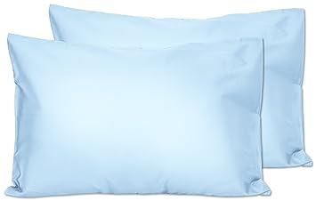 Amazon.com: 2 Azul Claro bebé fundas de almohada – Sobre ...
