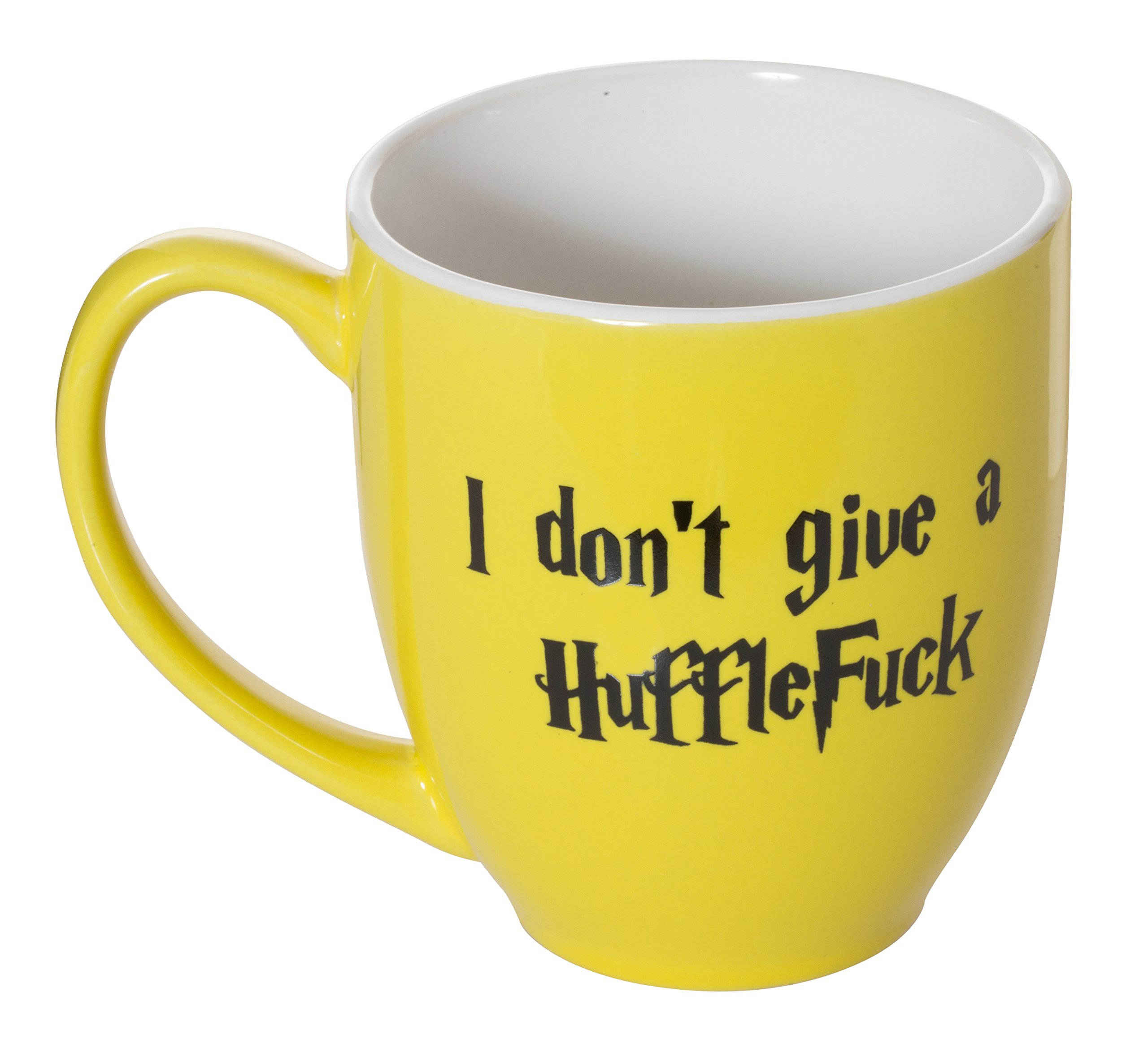 I Don't Give A HuffleFuck - 15oz Bistro Deluxe Double-Sided Coffee Tea Mug (HuffleFuck) by Artisan Owl (Image #4)