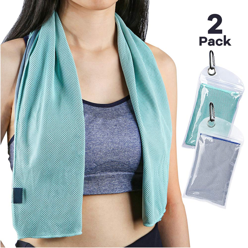 Sarissa Cooling Towel 2 Packs for Heat, Cold Cooling Towel Neck Wrap - Ice Chill for Women, Baby, Athletes & Gardeners