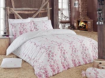 LaModaHome 3 pcs de Luxe coloré Chambre à Coucher 65% Coton Lit avec ...
