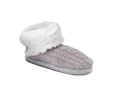 Women's MUK LUKS Melinda Knit ... Bootie Slippers Y96hnROMOr