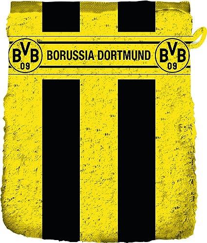 BVB Borussia Dortmund Waschhandschuh gelb